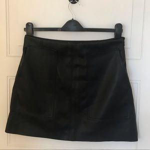 NWT H&M Faux Leather Mini Skirt Size 12